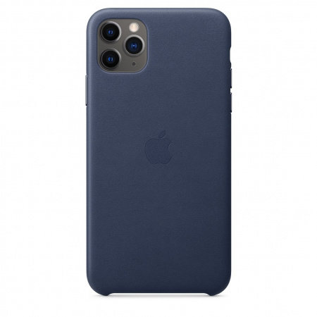 Калъф за смартфон Apple IPHONE 11 PRO MAX LEATHER CASE MIDNIGHT BLUE MX0G2