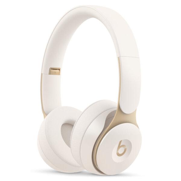Слушалки с микрофон Beats SOLO PRO ON-EAR - IVORY MRJ72