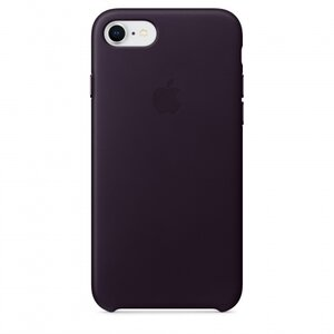 Калъф за смартфон Apple IPHONE 8/7 LEATHER CASE - DARK AUBERGINE MQHD2