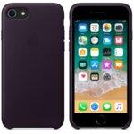 Калъф за смартфон Apple IPHONE 8/7 LEATHER CASE - DARK AUBERGINE MQHD2
