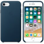 Калъф за смартфон Apple IPHONE 8/7 LEATHER CASE - COSMOS BLUE MQHF2