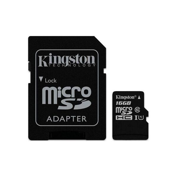 Карта памет Kingston MICRO SD 16GB CLASS 10 A1 CANVAS SELECT+