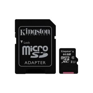 Карта памет Kingston MICRO SD 64GB CLASS 10 A1 CANVAS SELECT+