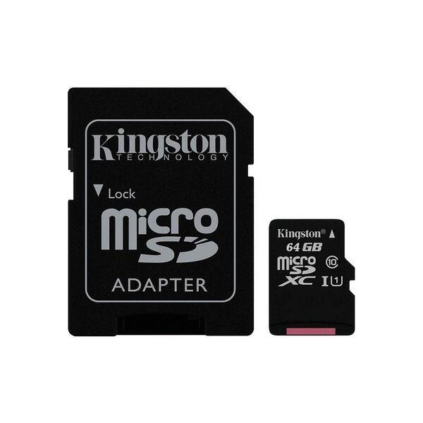 Карта памет Kingston MICRO SD 64GB CLASS 10 A1 CANVAS SELECT+
