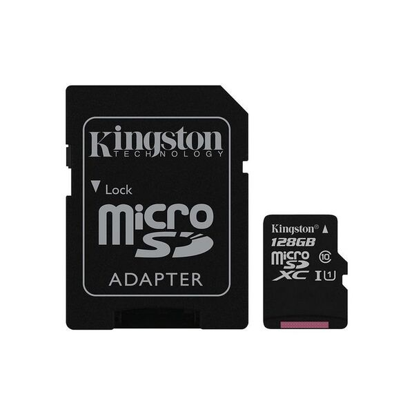 Карта памет Kingston MICRO SD 128GB CLASS 10 A1 CANVAS SELECT+