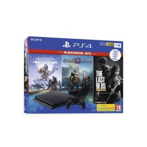 Конзола Sony PS4 1TB SLIM + 3 игри (GOW/HZD/TLOU)