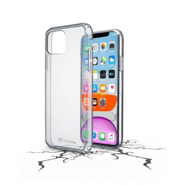Калъф Cellularline ClearDuo iPhone 11 ПРОЗРАЧЕН ТВЪРД