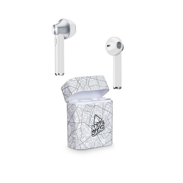 Слушалки Cellularline Music Sound TWS1 white
