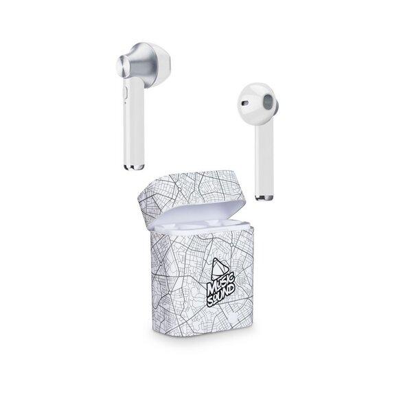 Слушалки Cellularline Music Sound TWS1 white