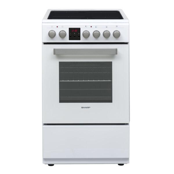 Готварска печка (ток) Sharp KF-56FVDD22WM-CH , Бял , Керамични