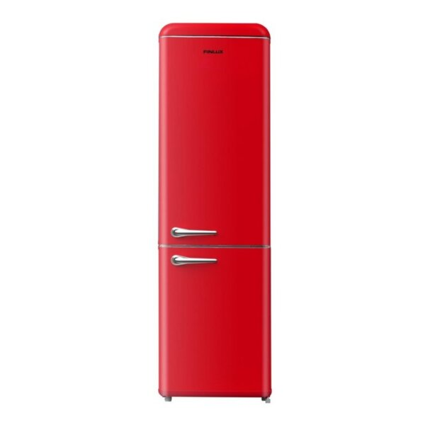 Хладилник с фризер Finlux FBRED-260 , 252 l, A+ , Статична , Червен