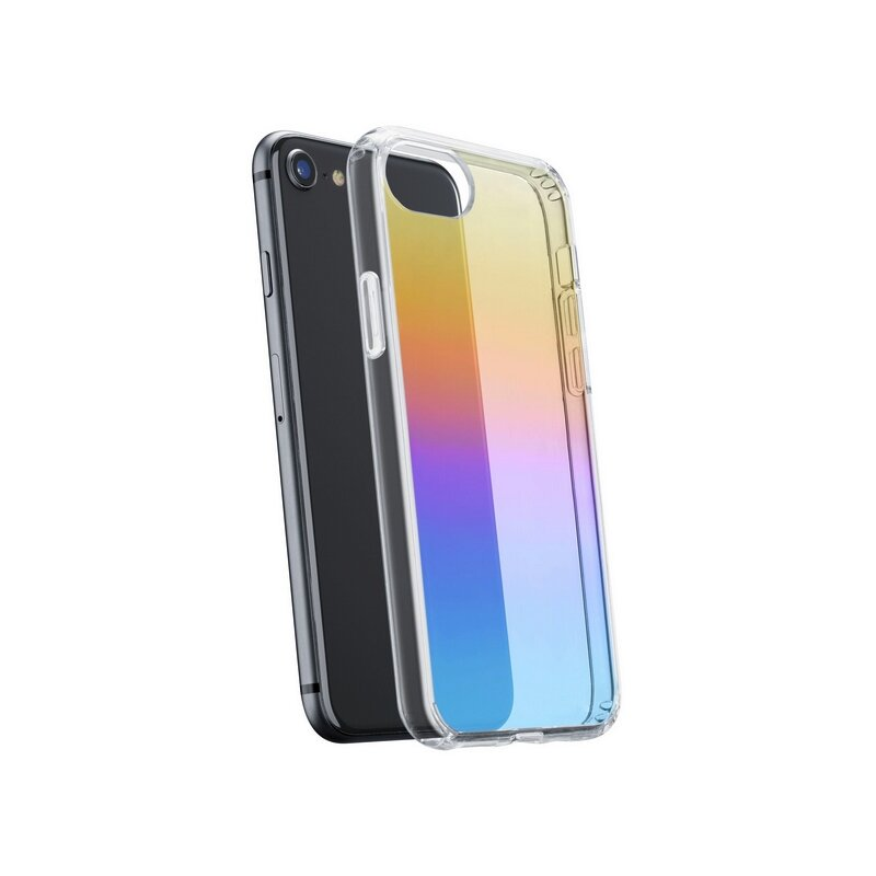 Калъф за смартфон Cellularline PRISMA IPHONE SE (2020)/8/7/6 прозрачен твърд
