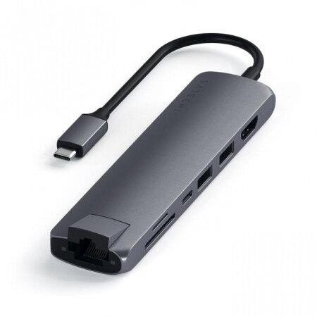 HUB USB Satechi Aluminium Type-C Slim Space Gray ST-UCSMA3M
