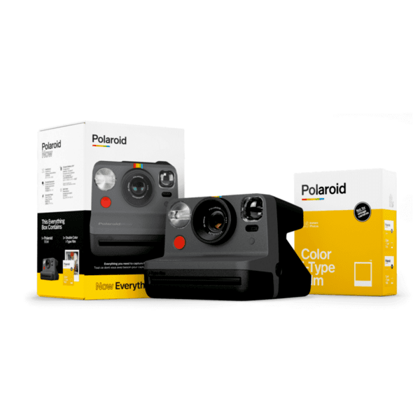 Фотоапарат за моментни снимки Polaroid NOW Black Everything Box 006026