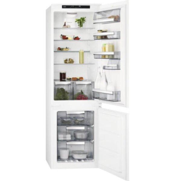 Вграден хладилник с фризер AEG SCE818E6TS , 253 l, E , No Frost