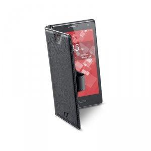 Калъф за смартфон Cellularline BOOK XL ЧЕРЕН BOOKUNI1LK