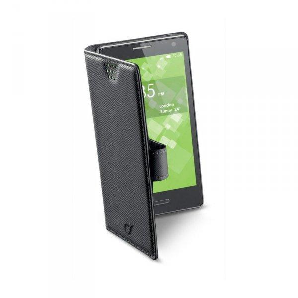 Калъф за смартфон Cellularline BOOK XXL ЧЕРЕН BOOKUNI2LK