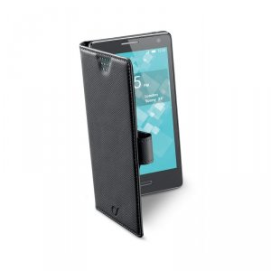 Калъф за смартфон Cellularline BOOK XXXL ЧЕРЕН BOOKUNI3LK