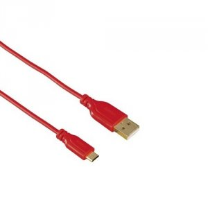 Кабел Hama 135703 FLEXI-SLIM RED USB-MICROUSB 0.75M