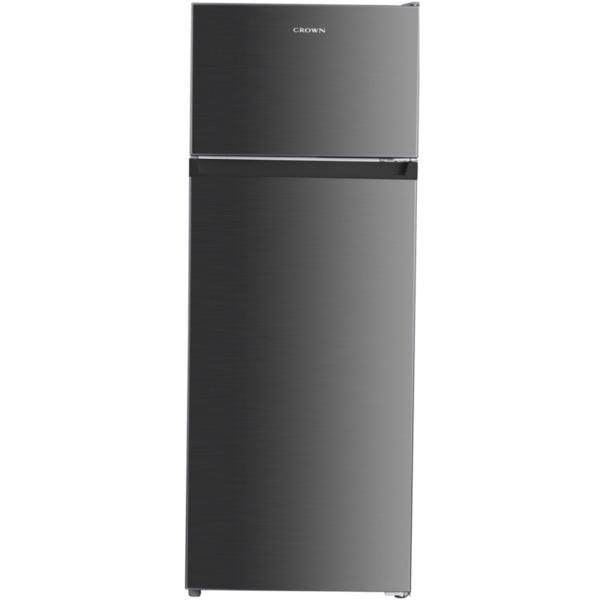 Хладилник с горна камера Crown DF-240SI , 205 l, F , Сив , Статична