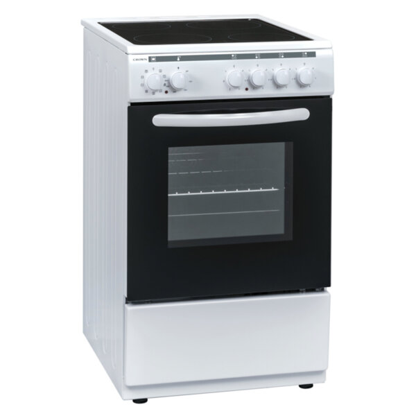 Готварска печка (ток) Crown 50C3MA , Бял , Керамични