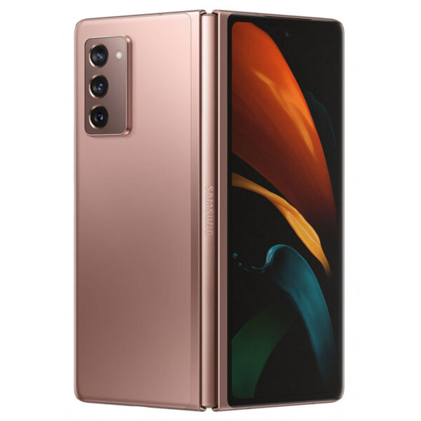 Мобилен телефон Samsung SM-F916BZNA GALAXY Z FOLD 2 BRONZE