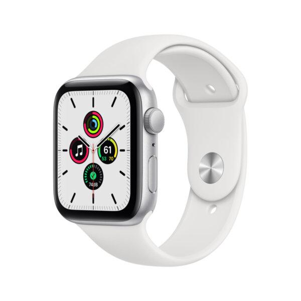 Смарт часовник Apple Watch SE 44mm Silver/White Sport Band mydq2 , 1 , 1.73 , 32 , S5 64-bit Dual Core