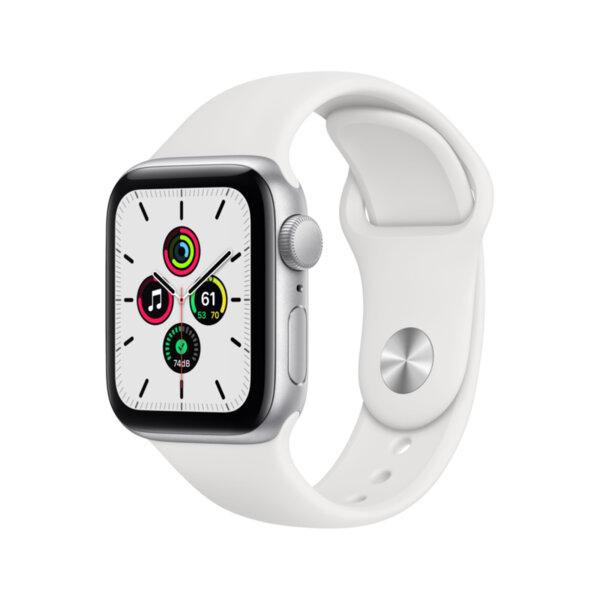 Смарт часовник Apple Watch SE 40mm Silver/White Sport Band mydm2 , 1 , 1.57 , 32 , Apple S5 64-bit Dual Core