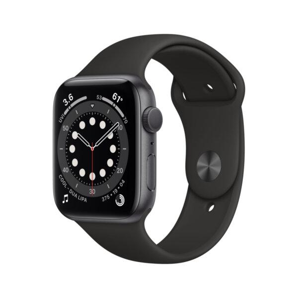 Смарт часовник Apple Watch 6 44mm Space Gray/Black Sport Band m00h3 , 1 , 1.73 , 32 , Apple S6 64-bit Dual Core