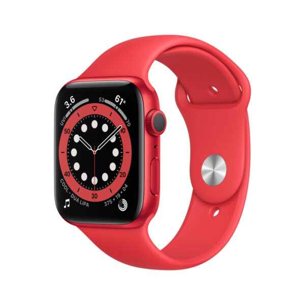 Смарт часовник Apple Watch 6 44mm RED/RED Sport Band m00m3 , 1 , 1.73 , 32 , Apple S6 64-bit Dual Core