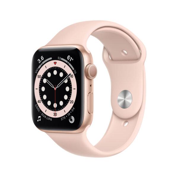 Смарт часовник Apple Watch 6 44mm Gold/Pink Sport Band m00e3 , 1 , 1.73 , 32 , Apple S6 64-bit Dual Core