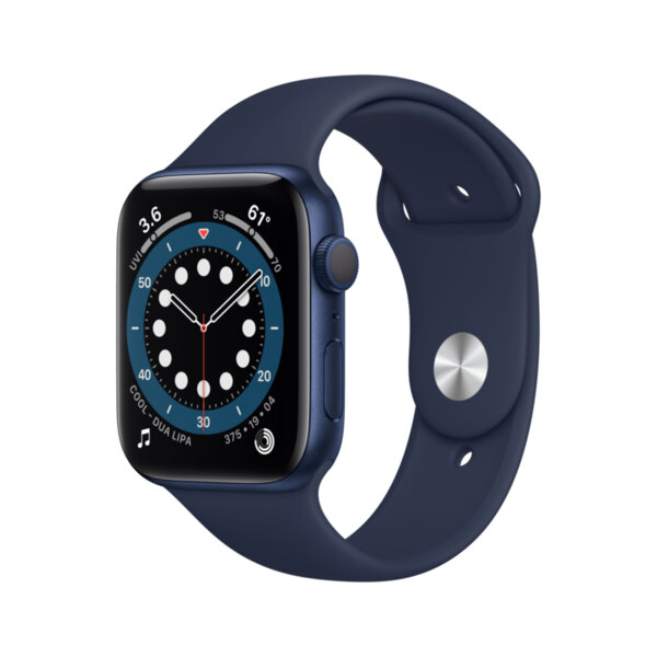 Смарт часовник Apple Watch 6 44mm Blue/Navy Sport Band m00j3 , 1 , 1.73 , 32 , Apple S6 64-bit Dual Core