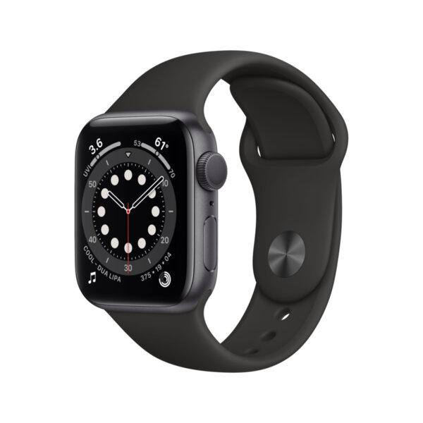 Смарт часовник Apple Watch 6 40mm Space Gray/Black Sport Band mg133 , 1 , 1.57 , 32 , Apple S6 Dual Core