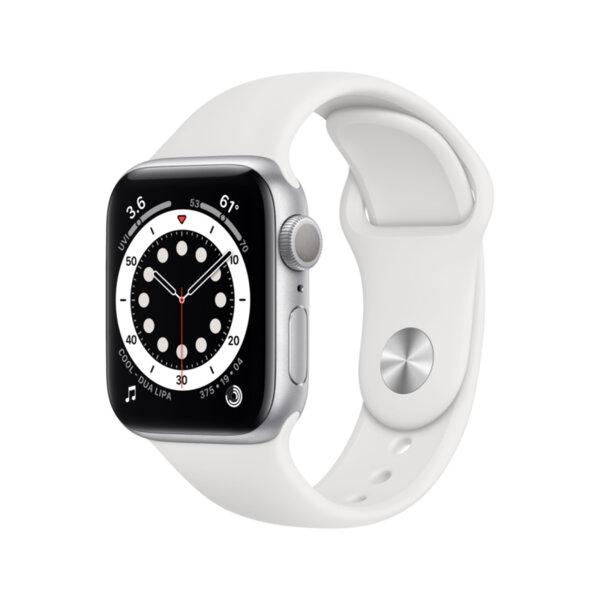 Смарт часовник Apple Watch 6 40mm Silver/White Sport Band mg283 , 1 , 1.57 , 32 , Apple S6 Dual Core