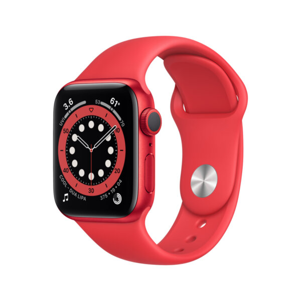 Смарт часовник Apple Watch 6 40mm RED/RED Sport Band m00a3 , 1 , 1.57 , 32 , Apple S6 Dual Core