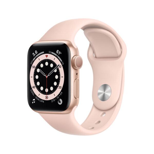 Смарт часовник Apple Watch 6 40mm Gold/Pink Sport Band mg123 , 1 , 1.57 , 32 , Apple S6 Dual Core