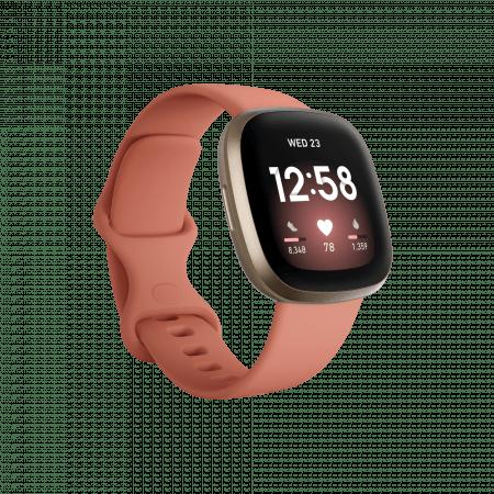 Смарт часовник Fitbit VERSA 3 Pink Clay/Soft Gold FB511GLPK , 1.58 , 4