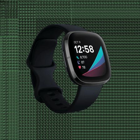 Смарт часовник Fitbit SENSE Carbon/Graphite  FB512BKBK , 1.58 , 4