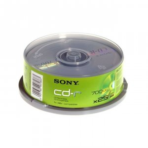 Медия Sony CD-R X25 700MB 25CDQ80NSPD/25CDQ80SP