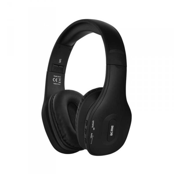Слушалки ACME BH-40 BLUETOOTH BLACK С МИКРОФОН
