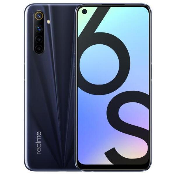 Смартфон Realme 6S 2002 64/4 DS BLACK , 4 GB, 64 GB