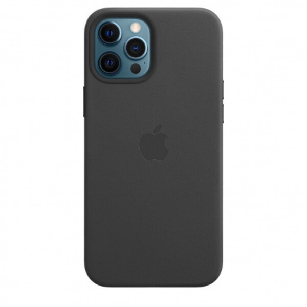 Калъф Apple iPhone 12 Pro Max Leather Case Black mhkm3