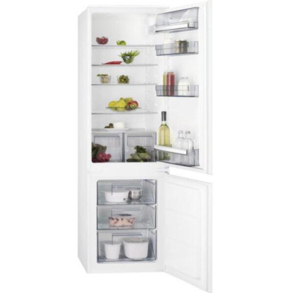 Вграден хладилник с фризер AEG SCB618F3LS , 267 l, A+ , Статична