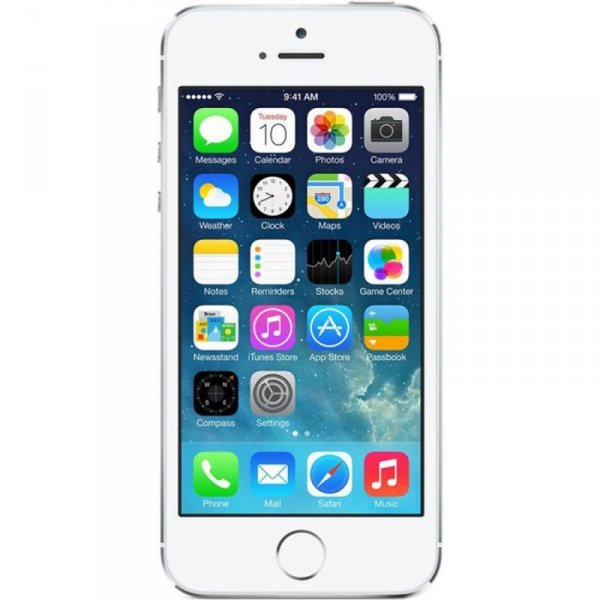 Мобилен телефон APPLE IPHONE 5S 16GB SILVER ME433