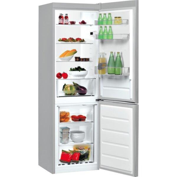 Хладилник с фризер Indesit LI8 S1E S , 339 l, F , Сив , Статична