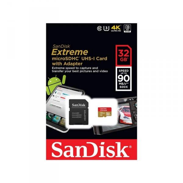 Карта памет SanDisk MICRO SD 32GB EXTREME SDSQX**-032G-GN6MA