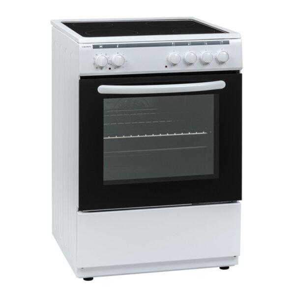 Готварска печка (ток) Crown 60C3MA , Бял , Керамични