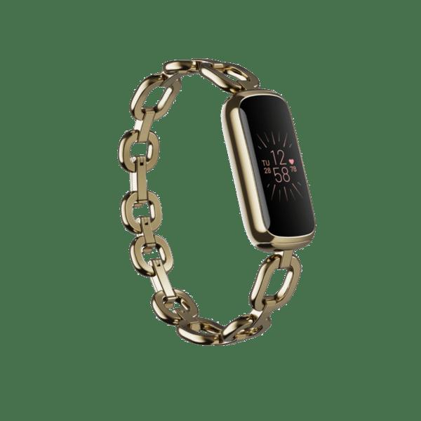 Фитнес гривна Fitbit Luxe SЕ Gorjana Band - Soft Gold/Peony FB422GLPK , 0.76
