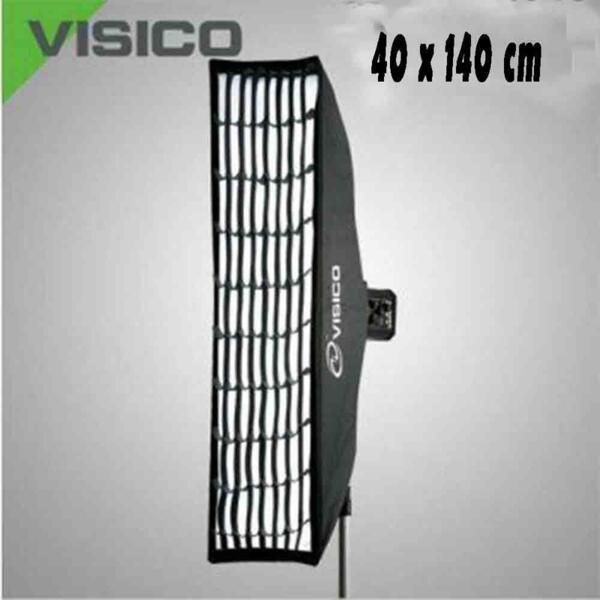 Softbox за студийна светкавица 40 x 140 см Visico с грид