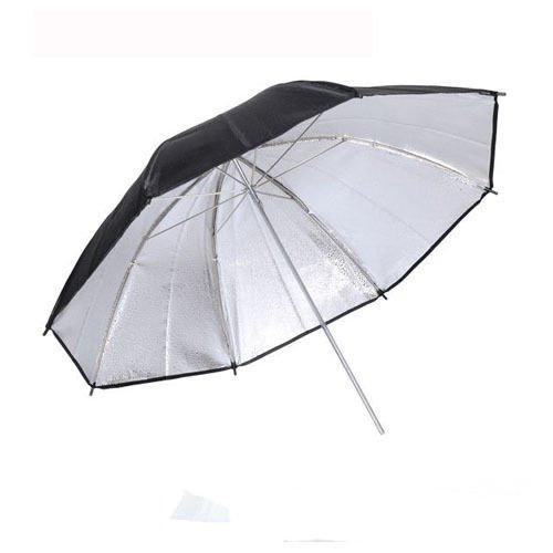Чадър /рефлектор ,черно и сребристо 100 см